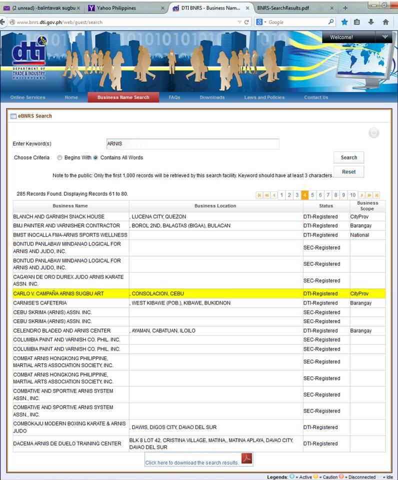 DTI Balintawak-sugbo registration