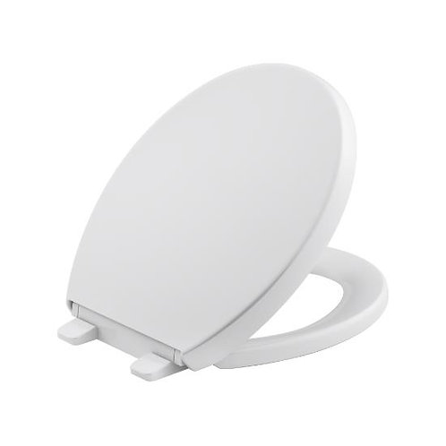 Kohler Reveal® Quiet-Close™ with Grip-Tight bumpers round-front toilet seat