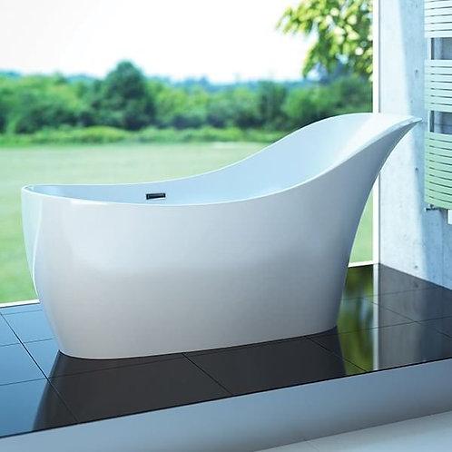 Mirolin Sirena Slimline Solid Surface Freestanding Bathtub 66x30x35