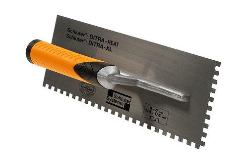 "Schluter DITRA-HEAT/-XL TROWEL 1/4"" X 1/4"" SQUARE NOTCH"