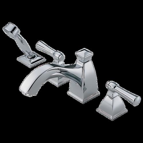 Brizo Vesi Roman Bath Tub Filler Faucet with Handshower Closed Spout