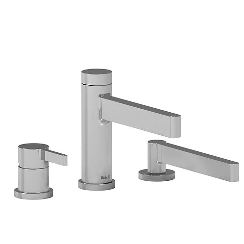 Riobel Paradox PX10 3 Piece Deck Mount Bath Tub Filler Faucet with Handshower