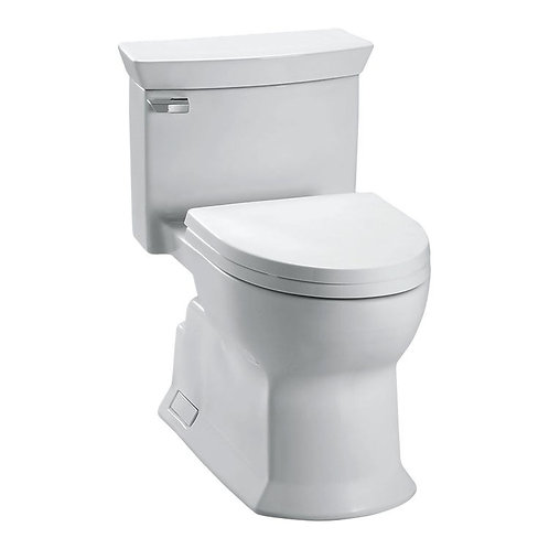 Toto Eco Soirée® MS964214CEFG One Piece Toilet, 1.28 GPF, Elongated Bowl