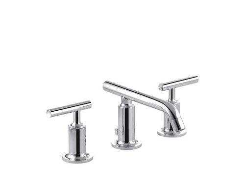 Kohler Purist® Widespread 3 Hole Lavatory Low Spout Faucet Lever Handle