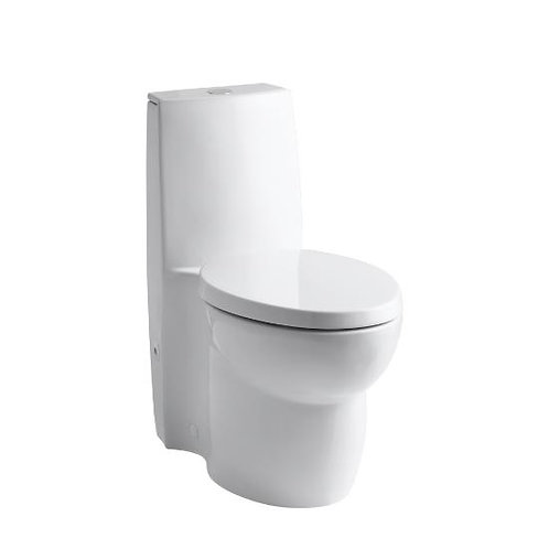 Kohler Saile® skirted one-piece elongated dual-flush toilet with top actuator