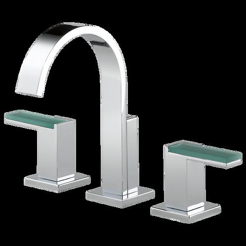 Brizo Siderna 3 Hole Widespread Lavatory Faucet Green Glass Handles