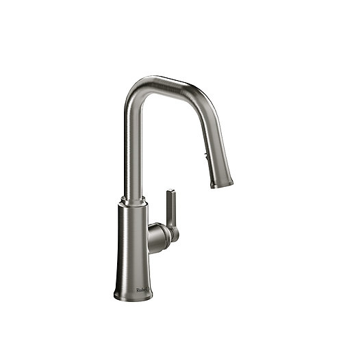 Riobel Trattoria TTSQ101SS Kitchen Faucet with Spray Stainless Steel