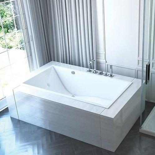 Mirolin Chaise Drop In Soaker Bathtub 66x32x22