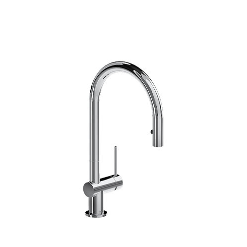 Riobel Azure AZ101C Kitchen Faucet with 1 Jet Spray Chrome