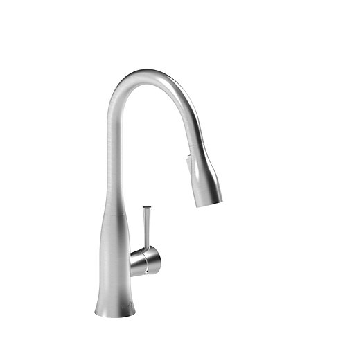 Riobel Edge ED601SS Prep Sink Faucet with Spray Stainless Steel
