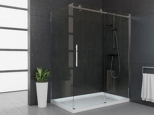 "Mirolin Roll Top Sliding 60""x74.5"" Shower 8mm Glass Door"