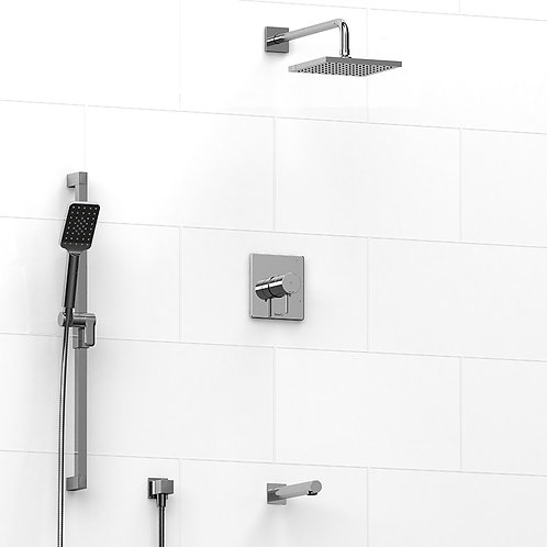 Riobel KIT#2845C Premium 3 Way Thermostatic Shower Chrome