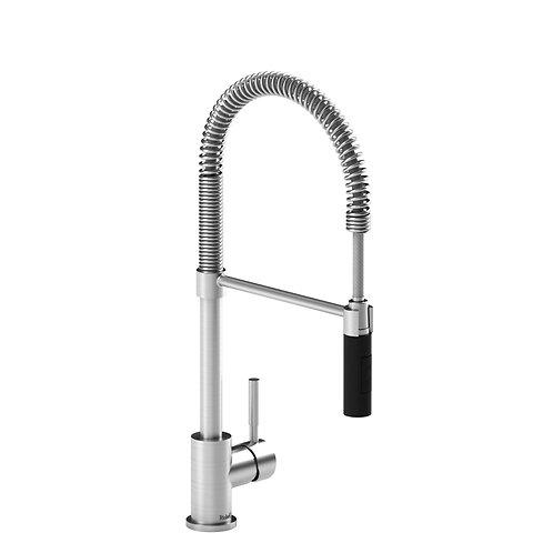 Riobel Bistro BI201SSBK Kitchen Faucet with Spray Stainless Steel Black