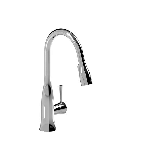 Riobel Edge ED601C Prep Sink Faucet with Spray Chrome