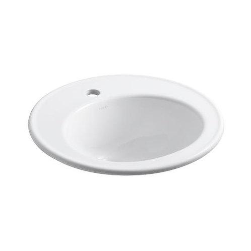 """Kohler Brookline® K-2202 self-rimming 14""""x12"""" drop in lavatory bathroom sink"""