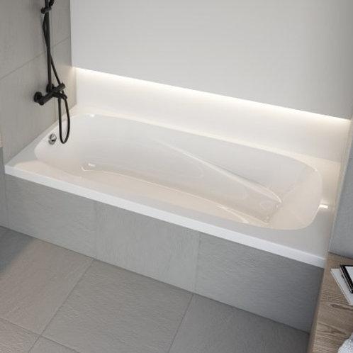 Mirolin Raven Alcove Soaker Bathtub 60x32x20