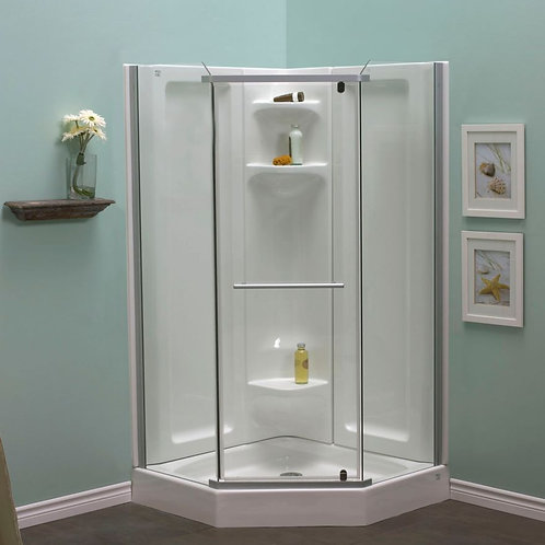 "Mirolin Corner 42""x72"" Neo Angle Pivot Shower 6mm Glass Door"