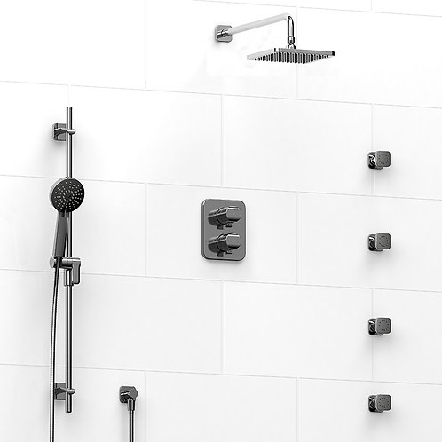 Riobel KIT#446SA Salome 4 Way Thermostatic Shower with Jets