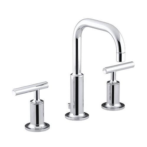 Kohler Purist® Widespread 3 Hole Lavatory Faucet Lever Handle