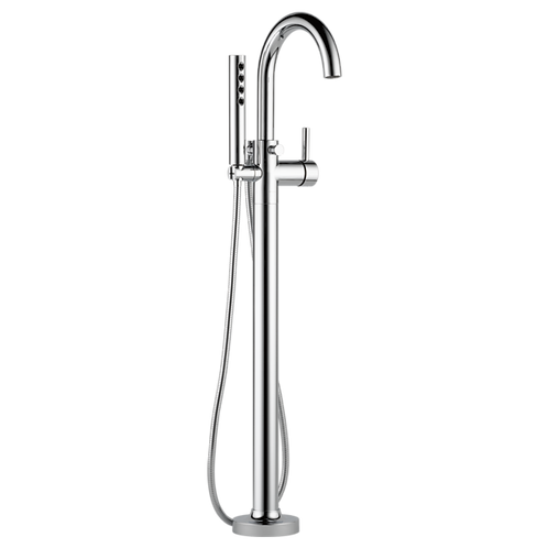 Brizo Odin Freestanding Floor Mount Bathtub Faucet with Handshower