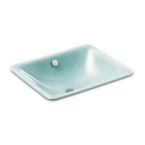 Kohler Iron Plains® K-5400-KG Vapour Green drop-in/under-mount bathroom sink