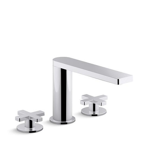 Kohler Composed® widespread bathroom sink faucet with cross handles
