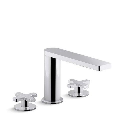 Kohler Composed® widespread bathroom sink faucet with cross handles