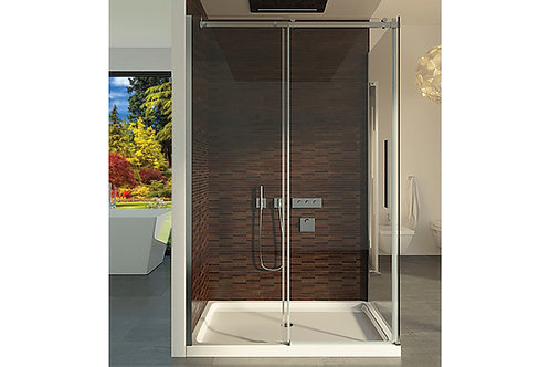 "Mirolin Elemento Roll Top Sliding 48""x78"" Shower 8mm Glass Door"