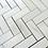 "Thumbnail: Bianco Dolomiti Marble 1""x2"" Herringbone White Mosaic Tile Polished"