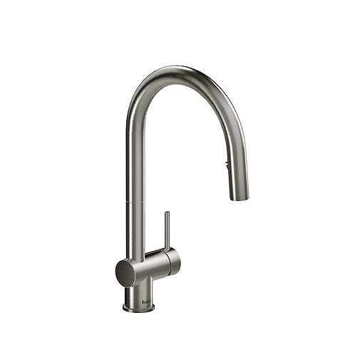 Riobel Azure AZ201SS Kitchen Faucet with Spray Stainless Steel