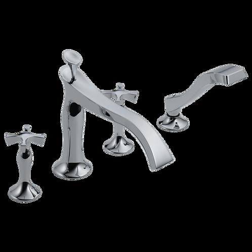 Brizo RSVP Roman Bath Tub Filler Faucet with Cross Handle