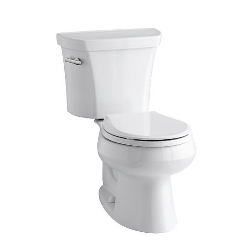 Kohler Wellworth® two-piece round-front 1.28 gpf toilet with Class Five® flush