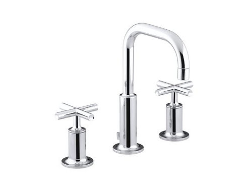Kohler Purist® Widespread 3 Hole Lavatory Faucet Cross Handle