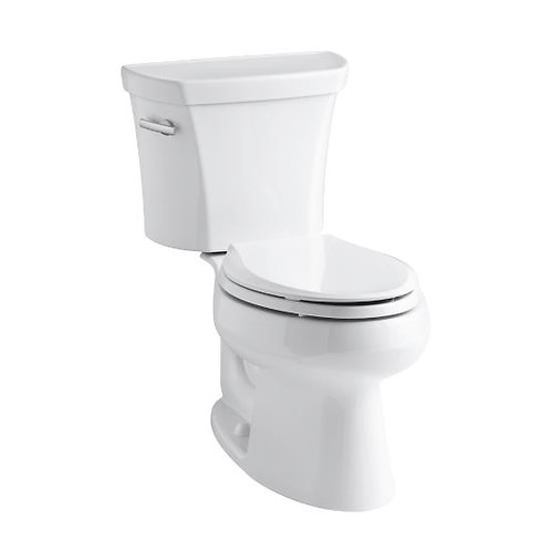 Kohler Wellworth® two-piece elongated 1.28 gpf toilet with Class Five® flush