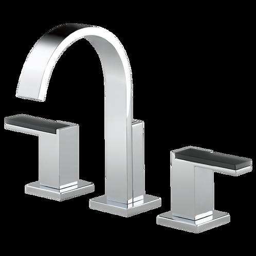 Brizo Siderna 3 Hole Widespread Lavatory Faucet Solar Gray Glass Handles