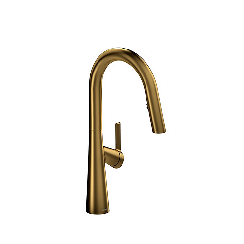 Riobel Ludik LK101BG Kitchen Faucet with Spray Brushed Gold