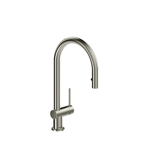 Riobel Azure AZ101SS Kitchen Faucet with 1 Jet Spray Stainless Steel