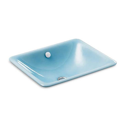 Kohler Iron Plains® K-5400-KC Vapour Blue drop-in/under-mount bathroom sink
