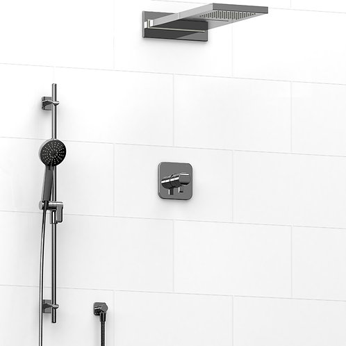 Riobel KIT#2745SA Salome 3 Way Thermostatic Shower with Cascade Shower Head