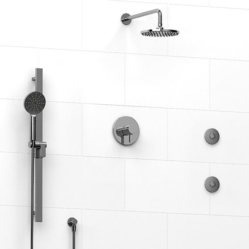 Riobel KIT#3545PXTM Paradox 3 Way Thermostatic Shower with Jets
