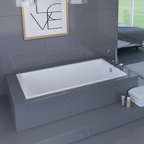 Mirolin Fina Slimline Drop In Soaker Bathtub 60x32x22
