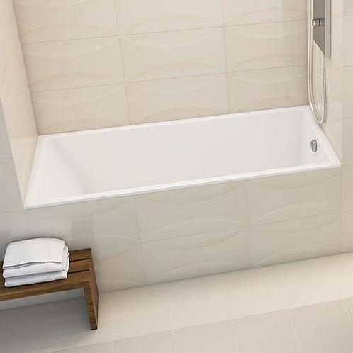 Mirolin Invidia Slimline Alcove Soaker Bathtub 66x32x22