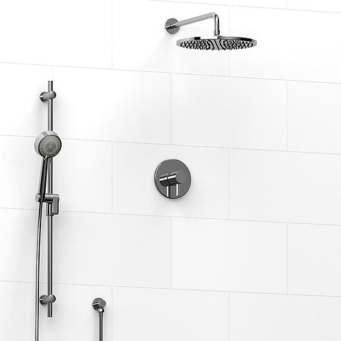 Riobel KIT#5423C Premium 2 Way Thermostatic Shower Chrome