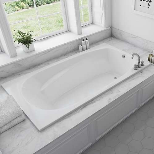 Mirolin Hudson 6 Drop In Soaker Bathtub 72x42x20