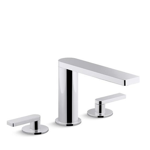 Kohler Composed® widespread bathroom sink faucet with lever handles