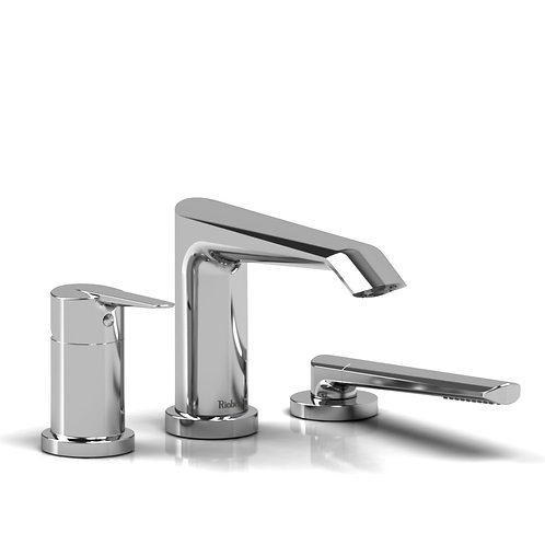 Riobel Venty VY10 3 Piece Deck Mount Bath Tub Filler Faucet with Handshower