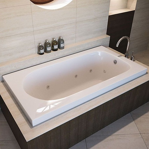 Mirolin Bliss Drop In Soaker Bathtub 60x32x20