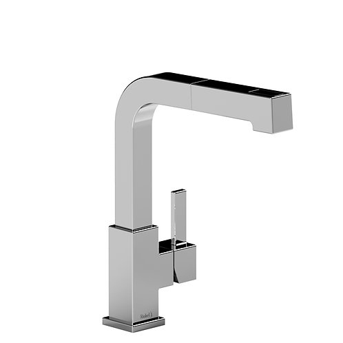 Riobel Mizo MZ101SS Kitchen Faucet with Spray Stainless Steel