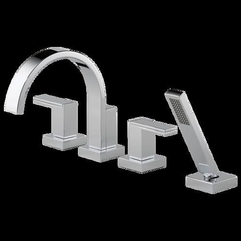 Brizo Siderna Roman Bath Tub Filler Faucet Metal Handles