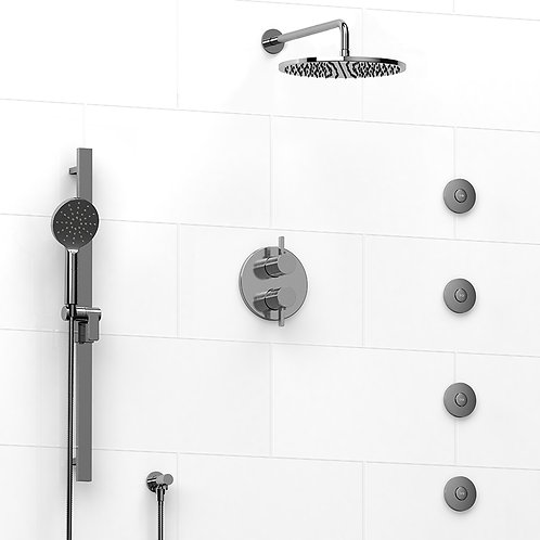 Riobel KIT#483PXTM Paradox 4 Way Thermostatic Shower with Jets